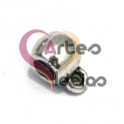 Conta Metal Bolinha com Argola - Prateado (3 mm)