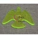 Pendente Acrílico Pombinha Grande - Verde Fluorescente (30 x 40 mm)