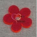 Conta Acrílica Flor - Fuchsia Flourescente (35 mm)