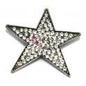 Pendente Metal Estrela de Brilhantes - Prateado (64 mm)