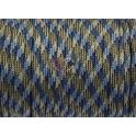 Paracord Multicolor Plano Azul e Beje (4 x 2 mm) - [1 metro]