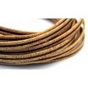 Cortiça Plana Bicolor (10 x 2) - Natural com Castanho