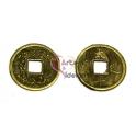 Pendente Metal Moeda Antiga da China - Dourado Velho (20 mm)