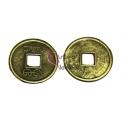 Pendente Metal Moeda Antiga da China - Dourado Velho (24 mm)