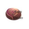 Cabochon Resina Redondo Rosa Velho Frost (12 mm)