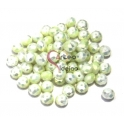 Conta de Cristal Facetada - Pearl Light Green (8 x 5 mm)