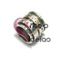 Conta Metal Tubinho Risca - Prateada (6 a 7 mm)