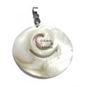 Pendente de Madrepérola Redondo Espiral (45 mm)