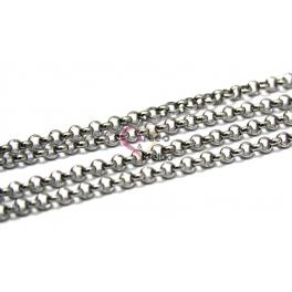 Corrente Aço Inox 316L Elo Redondo (4mm) - Prateado [1 metro]