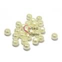 Contas Acrílica Pérola Natural (3 mm) - 20 unidades