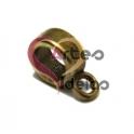 Conta Zamak Lisa com Argola para Pendente - Dourado Velho (5 a 6 mm)
