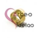Conta Latão Argolinha Lisa - Dourada (5 mm)