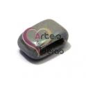 Conta de Cerâmica Barra - Cinza Claro (10 x 2 mm)