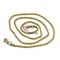 Fio Aço Inox Completo Cordão Twist (3mm) - Dourado [60cm]
