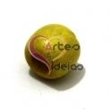 Conta Pipa de Madeira de 12 mm - Amarelo