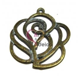 Pendente de Metal Blue Collection - Rosa (47 mm)