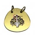 Pendente Aço Inox Chapa Árvore da Vida - Dourado (27 x 29 mm)