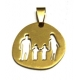 Pendente Aço Inox Irregular Família 2 Meninos - Dourado (25 x 26 mm)