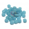 Conta de Cristal Facetada - Frost Light Blue (8 x 5 mm)