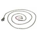 Fio Aço Inox Completo 316L Elo Oval (2x3mm) - Prateado [50 cm]