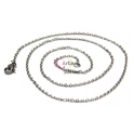 Fio Aço Inox Completo Elo Oval 316L (3 x 2 mm) - Prateado [50 cm]