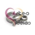 Fecho Aço Inox Mosquetão - Prateado (6x10mm)
