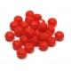 Conta de Cristal Facetada - Opaque Red (8 x 6 mm)