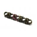 Conta Metal Passador de Elos 5 Vias - Dourado Velho (3 mm)