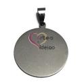Pendente Aço Inox Medalha Lisa - Prateado (30 mm)