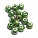 Conta de Cerâmica Bolinha 10 mm - Verde (2,9 mm)