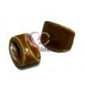 Conta de Cerâmica - Camel (10 x 3 mm)