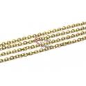 Corrente Aço Inox Elo Oval (2x3mm) - Dourado [1 metro]