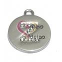 Pendente Metal Tipo Aço Medalha Letra Z Brilhante - Prateado (20 mm)