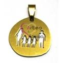 Pendente Aço Inox Irregular Família 3 Meninas - Dourado (25 x 26 mm)