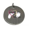 Pendente Aço Inox Pézinhos Recortados - Prateado (22 mm)