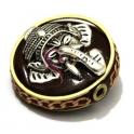 Conta Tibetana Artesanal Ganesha Castanha (30 mm)