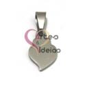 Pendente Aço Inox Mini Coração de Viana Liso - Prateado (15 x 10 mm)