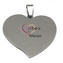 Pendente Aço Inox Coração Grande Liso - Prateado (35 x 37 mm)