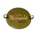 Pendente Aço Inox Redondo Madrinha - Dourado (25 mm)