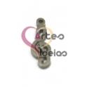 Pendente Aço Inox Mini Clave de Sol - Prateado (15 x 5 mm)