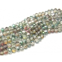 Fiada Contas de Cristal Facetadas - Green Colors (8 x 6) - [aprox. 72 unds]