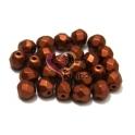 Pack Contas Facetadas da Bohemia - Red Copper Mat (6 mm) - [25 unds]