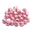 Pack Contas Facetadas da Bohemia - Rose Pearl (6 mm) - [25 unds]