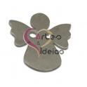 Pendente Aço Inox Anjinho Passador - Prateado (22 x 20 mm)