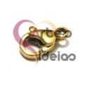 Fecho Aço Inox Mosquetão - Dourado (6x10mm)