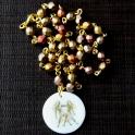 Colar Cristais Bohemia Crystal Gold Raimbow - Gémeos