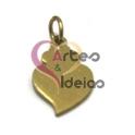Pendente Aço Inox Mini Coração de Viana Liso - Dourado (15 x 10 mm)
