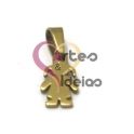 Pendente Aço Inox Menina Pequenina - Dourado (12 x 8 mm)