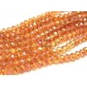 Fiada Contas de Cristal Facetadas - Orange AB (8 x 6) - [aprox. 72 unds]