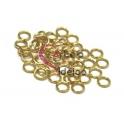 Argolas Aço Inox 4 mm - Douradas (Aprox 40 und)